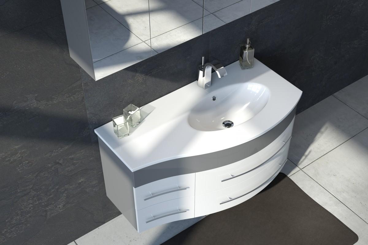 Badmöbel Set MIO 110 cm Waschplatz