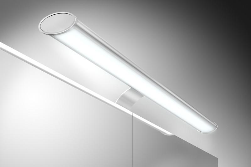 Badezimmer Spiegelschrank Beleuchtung Set Lampe 60 cm mit Energiebox