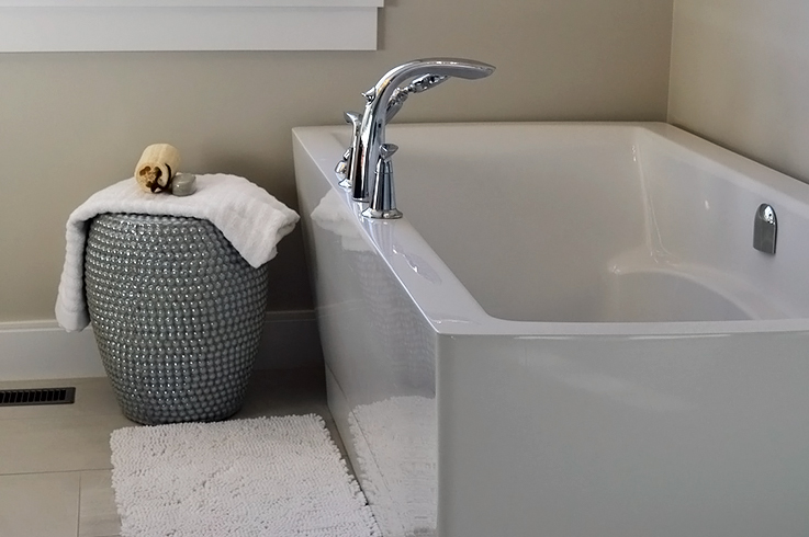 Teppiche schützen vor kalten Füßen und machen das Badezimmer gleich gemütlicher.